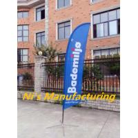 China Full Sleeve Super Feather Flag Banner/Pole/Spike on sale