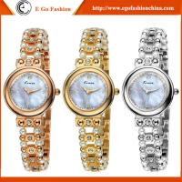 KM26 Fashion Womens Golden Small Round Dial Bracelet Lady Quartz Analog Wrist Watch Bangle Manufactures