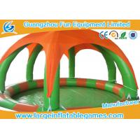 China Round Inflatable Water Walking Ball Pool With Detachable Air Tent For Zorb Ball on sale
