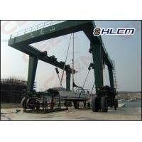 ISO HM350T 300t  / 600t / 800t  travel lift crane for boat hoisting and boat lifting Manufactures