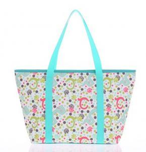 China Custom Printed Tote Bags Reusable Polyester Handbag for Womens on sale