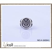 China Hot Selling 316l Stainless Steel Cross Ring with Competitive Price H-JK0041 on sale