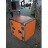 Orange Plywood Speaker Aluminum Tool Cases 2 In One With 4'' Strong PVC Wheels Manufactures