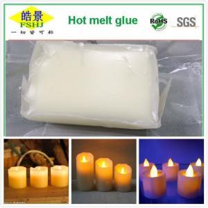 Pressure Sensitive Hot Melt Adhesive , White EVA Hot Melt Glue Electronic Candle Adhesives Manufactures