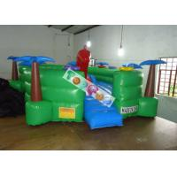 0.45mm PVC Tarpaulin Inflatable Amusement Park Turtle Playground With Slide And Tunnels Manufactures