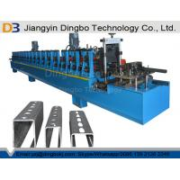 Panasonic PLC Control Strut Channel Metal Roll Forming Machine With Hydraulic Cutting Device Manufactures