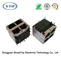 Modular 2x2 RJ45 750 Mating Cycles Durability 1000 Base T Jack With EMI Finger Manufactures