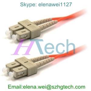 China 62.5/125 SC/SC Multimode Duplex Optic Fiber Cable, 2.0mm/3.0mm Fiber Optic Cable on sale