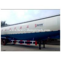 Customized v type dry bulk cement trailer with 3 axles 45cbm capacity with warranty Manufactures