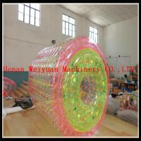 China PVC1.2MM Colorful 2.2m hot air welding  Floating Kids Toys colorful  Inflatable water roller ball for water pool on sale