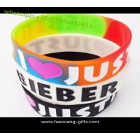 China Custom debossed silicone wristband with your logo size 202*25*2mm glow in dark on sale