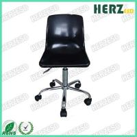 China Black Plastic Black Ergonomic Industrial Chairs With Grounding Conductive Metal Chain on sale