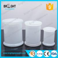 China 2018 New Wholesale glass tumbler jars frosted candle jar with lid on sale