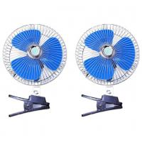 Blue And Silver Car Cooling Fan 12V/24V Made In China Provide OEM Service Manufactures