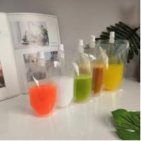 200ml 250ml 500ml fruit juice pouch transparent stand up spout pouch with cap Manufactures