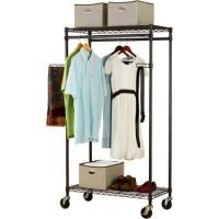 Heavy Duty Commercial Wire Shelving , Garment Wardrobe Metal Wire Racks For Storage Manufactures