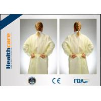 Non - Irritating Disposable Isolation Gowns Non-woven 16-70G Patient Exam Gowns Manufactures