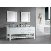 China Shaker Style Double Sink Bathroom Vanities And Cabinets Waterproof Board on sale