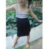 Buy cheap Classy Summer Lovely Girls Pleated Dress , Black Girls Spaghetti Strap Dress from wholesalers