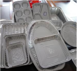 China Food Aluminium Foil Container Tray With Lids Aluminium Roasting Pan on sale