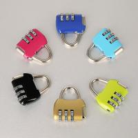 Travel Luggage Resettable Combination Padlock 3 Numbers For Password Suitcase Manufactures