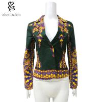 Spring African Print Ladies Jackets , African Print Blazers For Ladies Manufactures