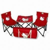 Folding Chair and Table Set, Made of 600D Polyester with PVC Backing, Portable and Easy to Store Manufactures