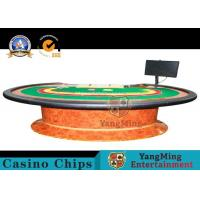 Buy cheap Durable Simple Modern Poker Card Table Top With Z Wood Legs / Baccarat Table from wholesalers