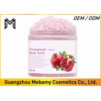 Exfoliating Skin Care Body Scrub , Pomegranate Brightening Body Scrub Anti Aging Manufactures