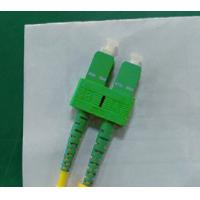 China SM Duplex Fiber Optic Patch Cable , SC / APC Connector PVC Cable wholesale