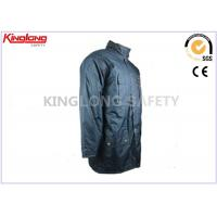 Microfiber PVC Windproof Winter Workwear Industrial Safety Clothing With Hood Manufactures