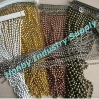 Colored Metal Bead Linked Chain Curtain Manufactures