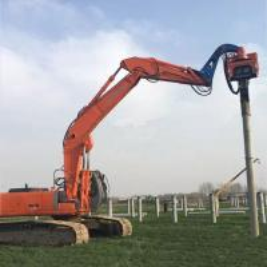 Precision Vibratory Pile Hammer Excavator Hydraulic Pile Driver 3000rpm Piling Equipment