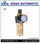 Cotton Filter Cartridge Manual Drain Air Pressure Regulator , Airtac Type Pneumatic Air Regulator Filter Manufactures