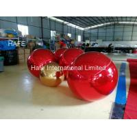 China Red Color 15ft Flying Helium Inflatable Mirror Balloon For Christmas Decoration on sale
