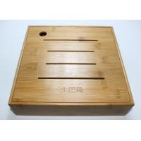 Bamboo Display Box, Wooden Tea Storage Box With 4 Compartments And Lids Manufactures