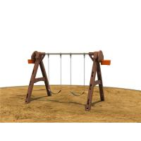 A Shape Children Swing Sets With 2 Seats Outdoor For Preschool Manufactures
