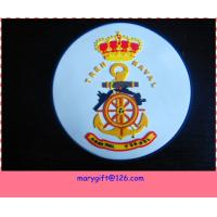 3D embossed logo pvc coaster with base Manufactures