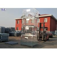 Collapsible Storage Wire Container Storage Cages For Warehouse / Workshop Manufactures