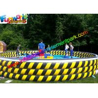 China Crazy Sports Inflatable Wipeout Eliminator , Wipe Out Mechanical Games for 6 Person on sale
