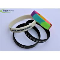 Fashion Unisex Silicone Rubber Bracelets , Custom Silicone Wristbands For Events Manufactures