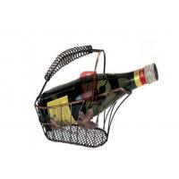 Fashion Basket Copper Red Wine Display Stands For Family Party Manufactures