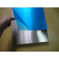 Coverd Surface Alloy Precision Aluminum Plate / Sheet With Blue PVC Film Available Manufactures