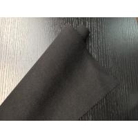 Black Warm Soft Woven Wool Fabric ployster / Wool Upholstery Fabric Manufactures
