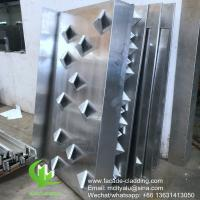 3D Facade Aluminum Solid Panel for Wall Cladding and facade waterproof Manufactures