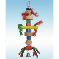 natural wooden bird toys 10 inches lots of chewing block and sisal for senegal Manufactures