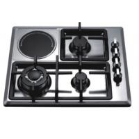 China Four Burners Gas And Electric Hob Battery / Electric Ignition Stainless Steel Material on sale
