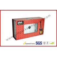 China 600gsm Rigid Board MP3 / 4 Electronics Packaging with PVC Window , Magnetic Packaging Box on sale