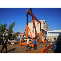 A Frame Type Mobile Portal Crane Lifting High Efficiency Easy Operation With Wheel Manufactures
