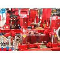50Hz Multi Stage Vertical Electric Jockey Pump Fire Pump Set With Control Panel Manufactures